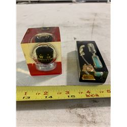 2- Mid Century Pieces, Lucite Compass + Egg Timer
