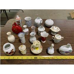 Lot of Miniature Vases