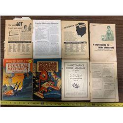 8 Popular Mechanics Books 1934-40