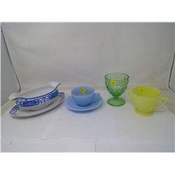 5 Pieces of Assorted Glassware