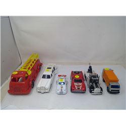 6 Toy Vehicles