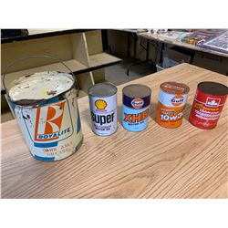Oil Cans - Royalite Grease Can (All Full)