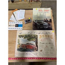 Chrysler Atlas, '41 Packard Poster, and 63 Pontiac