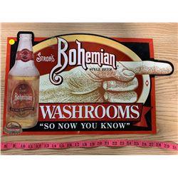 Stroh's Washroom Sign