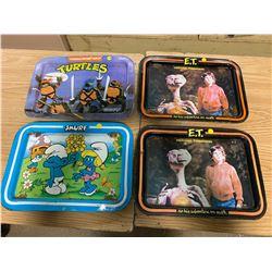 E.T. / Smurf / Ninja Turtles Table Trays