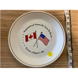 United Airline Inauguration Plate - 1967
