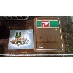 7-Up Menu Cover and Board