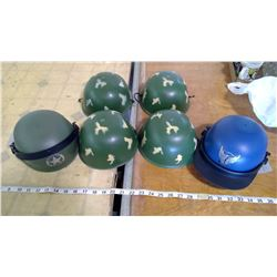 6 Toy Army Helmets