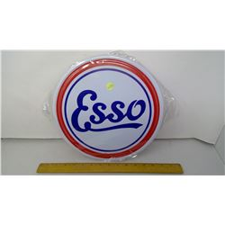 """Esso 12"""" Round Tin Reproduction Sign"""