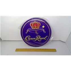 """Crown royal 12"""" Round Tin Reproduction Sign"""