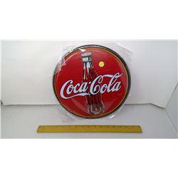 "Coca-Cola 12"" Round Tin Reproduction Sign"