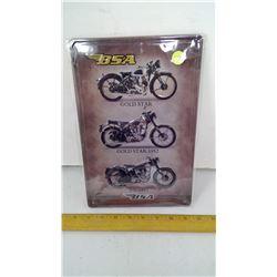 """BSA 12""""x8"""" Tin Reproduction Sign"""