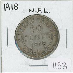 1918 Newfoundland Fifty Cent Coin