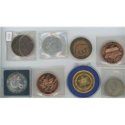 1970 Manitoba 100 Year Centennial Coin, 1983 Canadian Silver Dollar, 1965 USA Large Cent Sudbury Com