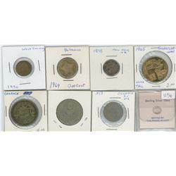 1977 Sterling Silver Jimmy Carter Commemorative Token, 1953 Denmark Twenty-Five Ore, 1970 CCCP Coin,