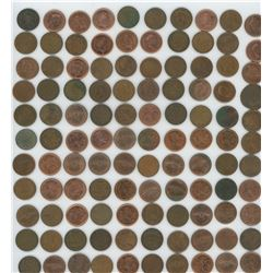 Bag of Assorted Small One Cent Coins (1929-2008)