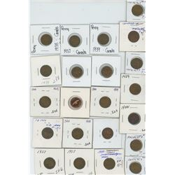 Bag of Assorted Small One Cent Coins in 2x2's Assorted Years