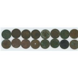 Bag of Assorted Large One Cent Coins - Canadian