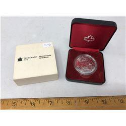 1980 Royal Canadian Mint Silver Dollar in Black Case