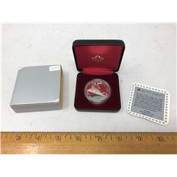 1986 Royal Canadian Mint Silver Dollar in Black Case