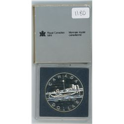 1984 Royal Canadian Mint Uncirculated Silver Dollar in Plastic Case