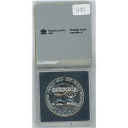 1985 Royal Canadian Mint Uncirculated Silver Dollar in Plastic Case