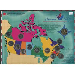 Canada 125 Quarter Set with Loonie