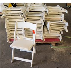 Approx. Qty 32 White Folding Chairs