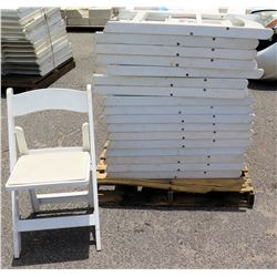 Approx. Qty 41 White Folding Chairs