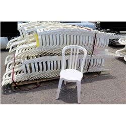 Approx. Qty 140 White Hard Plastic Stacking Chairs