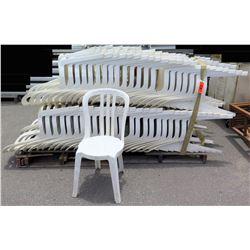 Approx. Qty 130 White Hard Plastic Stacking Chairs