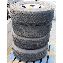 Qty 4 Goodyear Wrangler Tires T245 Radial