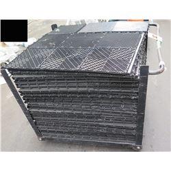 Rolling Cart w/ Multiple Interlocking Portable Flooring Mats
