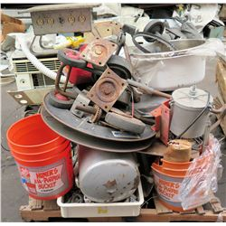 Pallet Misc Strapping Reels, High Performance Straps, Wheels, Gas Can etc