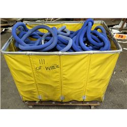 Rolling Bin w/ Blue Ropes w/ Fittings for Metal Post Stanchions
