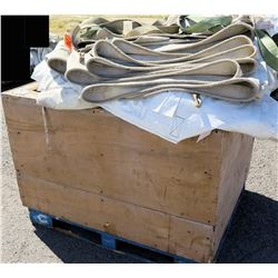 Bin White Tent Wall Sections Tarps & Straps