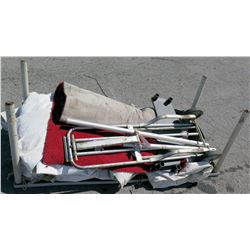 Folding Hand Truck, Tent Wall Section & Roll Carpet