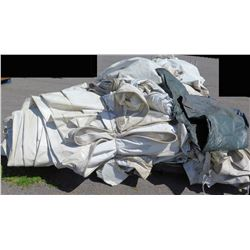 Pallet White 25 X 50 End Tent Wall Sections Tarps