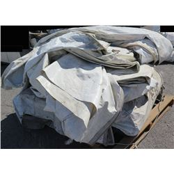 Pallet White Tent Wall Sections Tarps