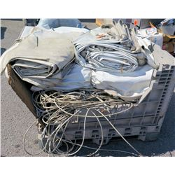 Pallet Misc 15 X 50 MID Tent Sections, Cables w/ Fittings,