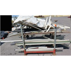 Rack Misc Lengths Tent Poles, Fittings, Folding & Stationary Chairs, etc