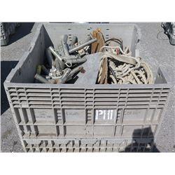 Bin Metal Tent Frame Corners & Connector Fittings, Ropes, etc