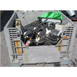 Bin Black Electrical Cables, Junction Boxes, Brackets, Wall Outlets, etc