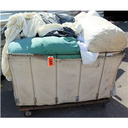 Rolling Bin White Tent Wall Sections Tarps in Bags