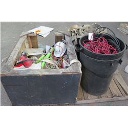 Pallet Fire Extinguishers, Cables, Straps, Hard Hat, etc