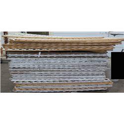 Pallet White Painted Lattice Panels