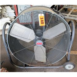 Mobile Dayton Round Industrial Electric Floor Fan