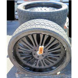 Qty 4 Delinte Tires 305/30ZR25 109W XL on Asanti Wheels Rims