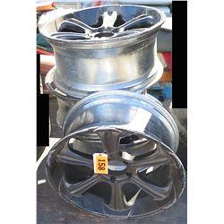 Qty 3 Chrome Rims for Tires