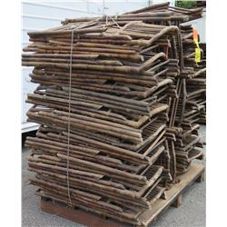 Approx. Qty 30 Wooden & Bamboo Wicker Folding Chairs